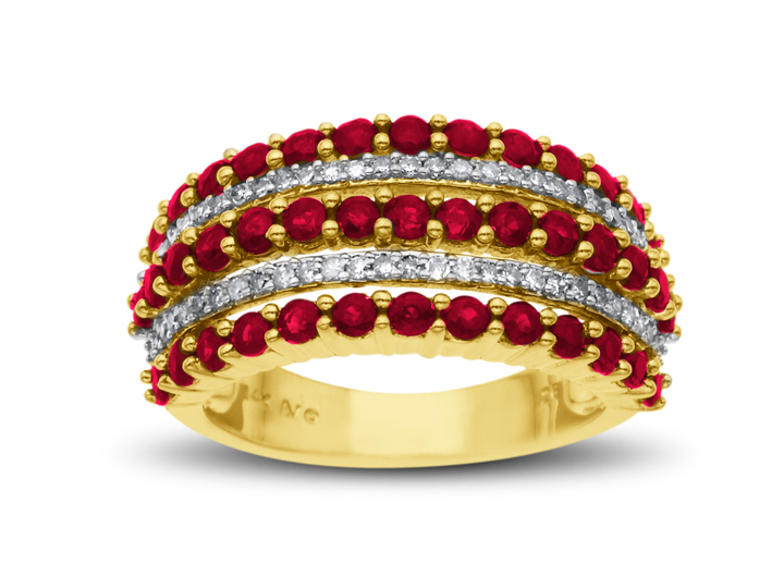 1 5/8 ct Ruby and 1/5 ct Diamond Ring in 14K Gold from Jewelry.com