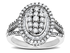 1 ct Round-cut Diamond Ring in 14K White Gold