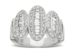 7/8 ct Diamond Ring in 14K White Gold