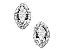 1/2 ct Diamond Earrings in 14K White Gold