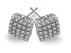 1/3 ct Diamond Stud Earrings in 14K White Gold