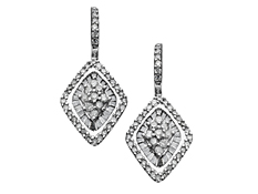 5/8 ct Diamond Drop Earrings in 14K White Gold