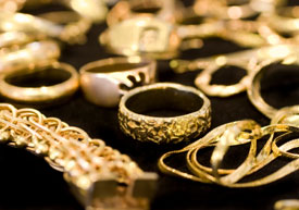 Gold Earrings Jewelry
