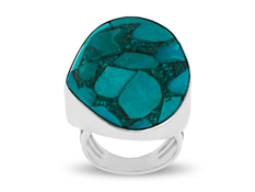 Sajen Mosaic Turquoise Ring in Sterling Silver